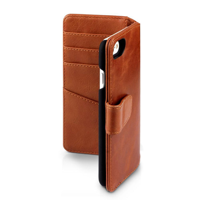 Terrapin Cases Terrapin Apple iPhone 8/7 Real Leather Business Wallet Case - Cognac