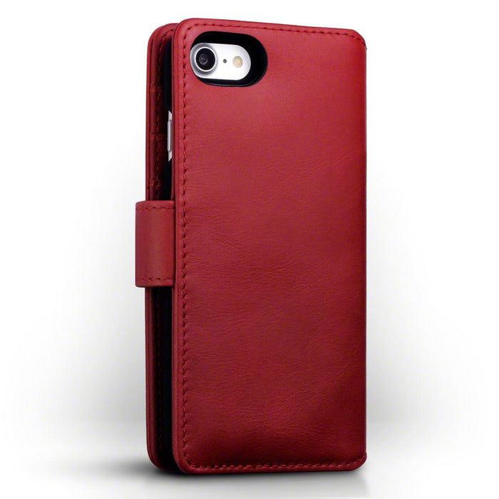 Terrapin Cases Terrapin Apple iPhone 8 / iPhone 7 Real Leather Wallet Case - Red