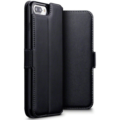 Terrapin Cases Terrapin Apple iPhone 8 Plus / 7 Plus Low Profile Genuine Leather Wallet Case - Black