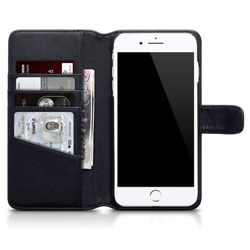 low priced 1e2e8 fbe89 Terrapin Apple iPhone 8 Plus / 7 Plus Genuine Leather Wallet Case - Black