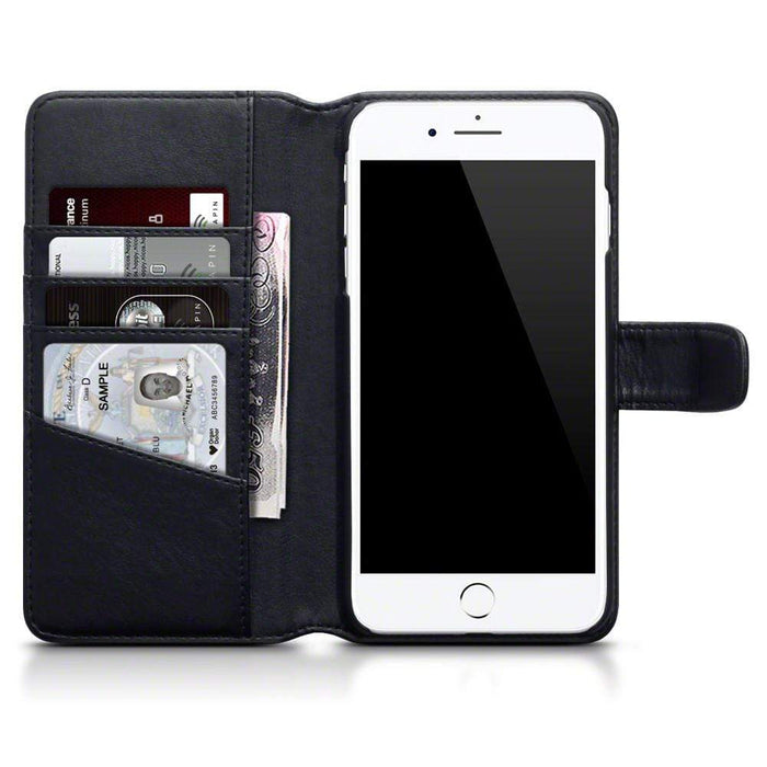 Terrapin Cases Terrapin Apple iPhone 8 Plus / 7 Plus Real Leather Wallet Case - Black