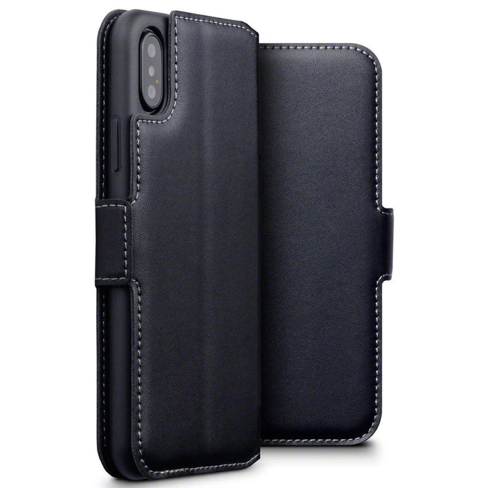 Terrapin Cases Terrapin Apple iPhone X/XS Low Profile Genuine Leather Wallet Case - Black