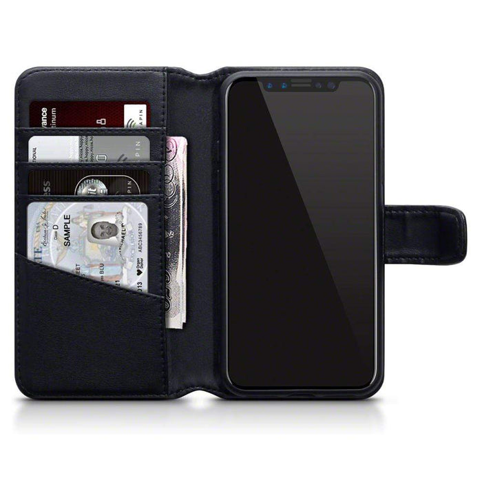 Terrapin Cases Terrapin Apple iPhone X/XS Real Leather Wallet Case - Black