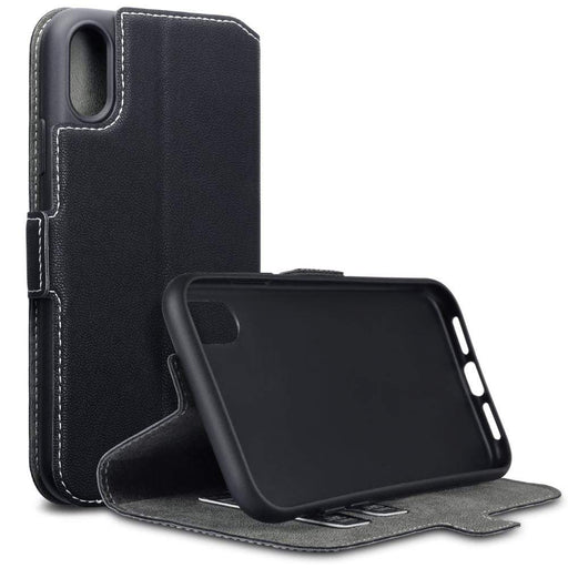 Terrapin Cases Terrapin Apple iPhone XR Low Profile Faux Leather Wallet Case - Black
