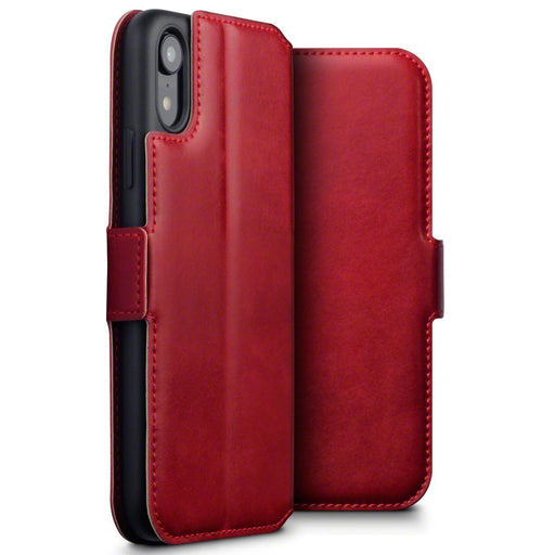 Terrapin Cases Terrapin Apple iPhone XR Low Profile Genuine Leather  Wallet Case - Red