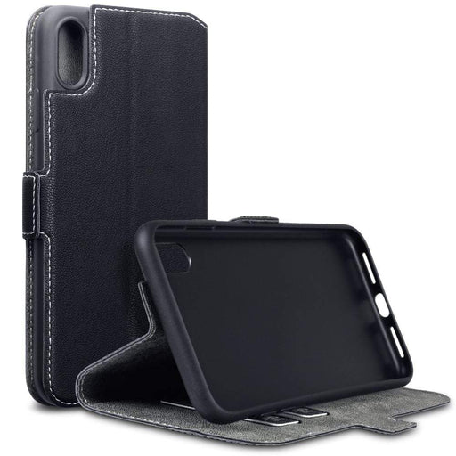 Terrapin Cases Terrapin Apple iPhone XS Max Low Profile Faux Leather Wallet Case - Black
