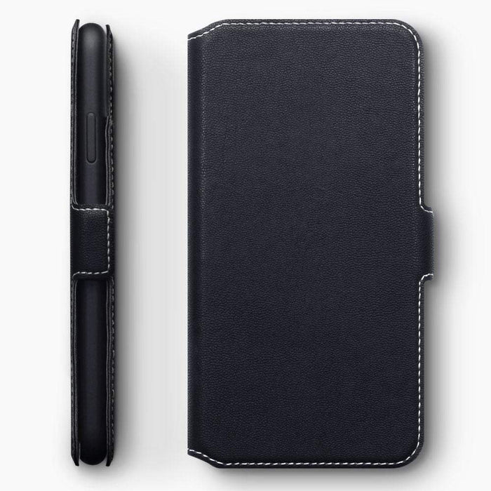 huge selection of bba11 71720 Terrapin Apple iPhone XS Max Ultra Slim Faux Leather Wallet Case - Black