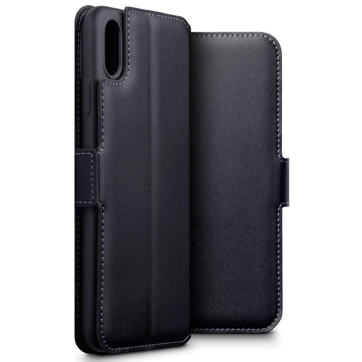 Terrapin Cases Terrapin Apple iPhone XS Max Low Profile Genuine Leather Wallet Case - Black
