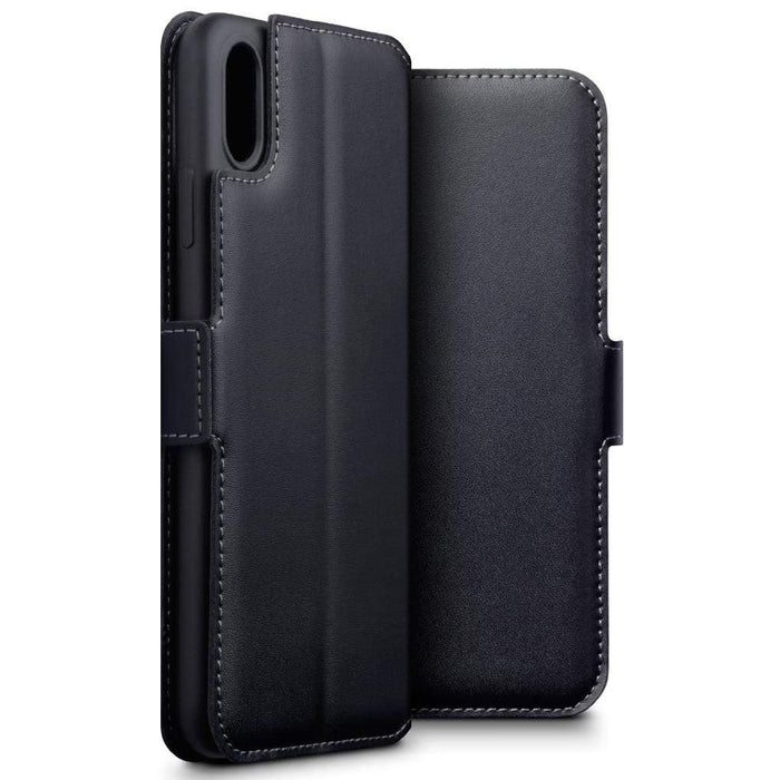 official photos 8c208 62580 Terrapin Apple iPhone XS Max Ultra Slim Genuine Leather Wallet Case - Black