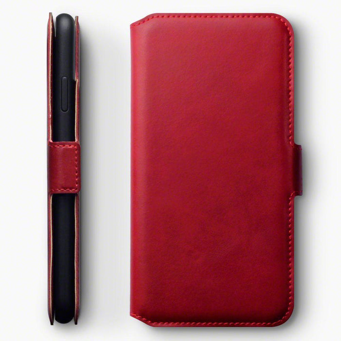Terrapin Cases Terrapin Apple iPhone XS Max Low Profile Genuine Leather Wallet Case - Red
