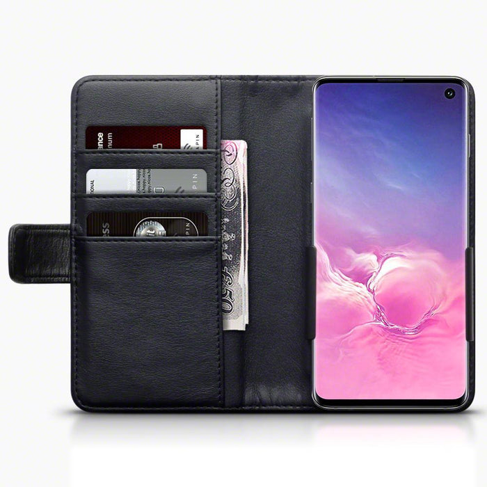 Terrapin Cases Terrapin Genuine Leather Universal Ladies Phone Wallet with Coin Purse and Card Holders, Standard Size (4.7-5.5 inch phones) - Black