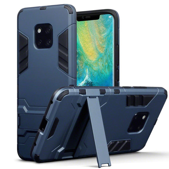 Terrapin Cases Terrapin Huawei Mate 20 Pro Dual Layer Armour Case with Stand - Blue