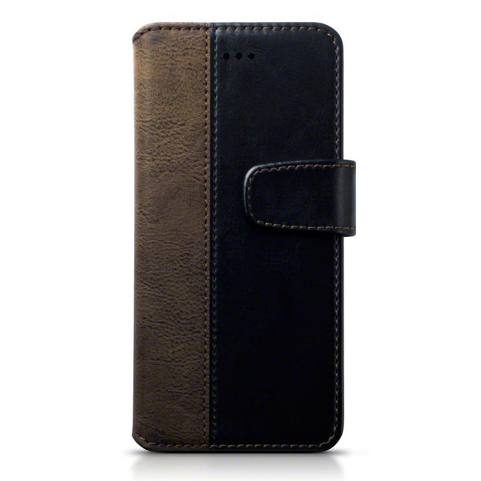 Terrapin Cases Terrapin Huawei P10 Faux Leather Wallet Case with Stand Function - Black / Brown