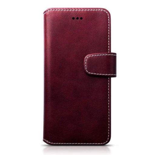 Terrapin Cases Terrapin Huawei P10 Faux Leather Wallet Case with Stand Function - Red White Stitching