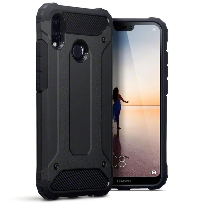 Terrapin Cases Terrapin Huawei P20 Lite Double Layer Impact Case - Black