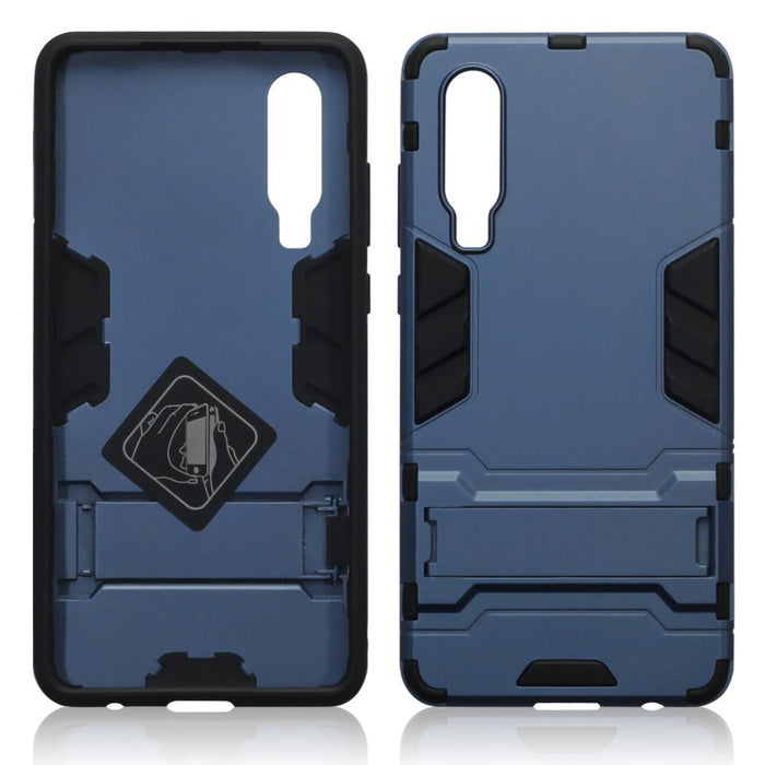 Terrapin Cases Terrapin Huawei P30 Dual Layer Armour Case with Stand - Blue
