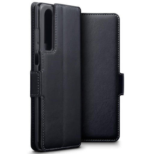 Terrapin Cases Terrapin Huawei P30 Low Profile Genuine Leather Wallet Case - Black
