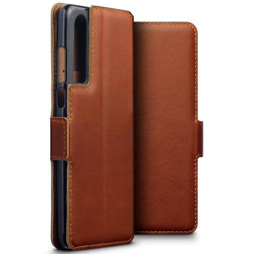 Terrapin Cases Terrapin Huawei P30 Low Profile Genuine Leather Wallet Case - Cognac