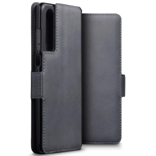 Terrapin Cases Terrapin Huawei P30 Low Profile Genuine Leather Wallet Case - Grey
