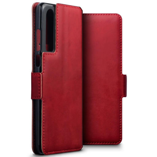 Terrapin Cases Terrapin Huawei P30 Low Profile Genuine Leather Wallet Case - Red