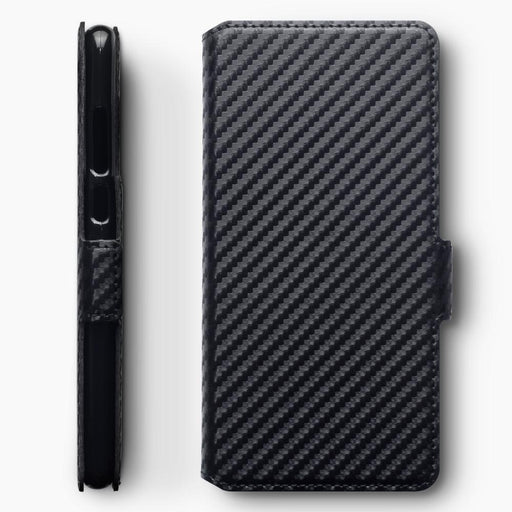 Terrapin Cases Terrapin Huawei P30 Low Profile PU Leather Wallet Case - Black Carbon Texture
