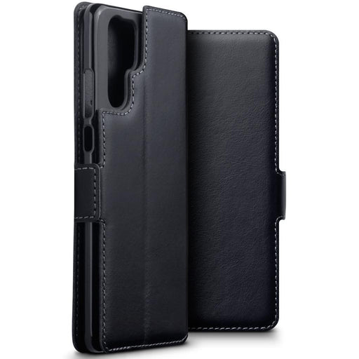 Terrapin Cases Terrapin Huawei P30 Pro Low Profile Genuine Leather Wallet Case - Black