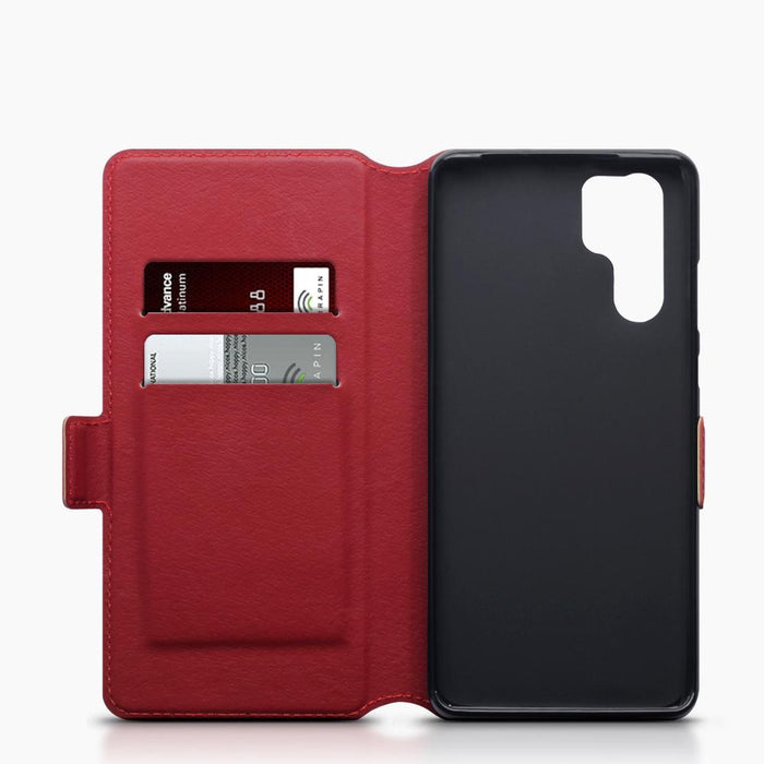 Terrapin Cases Terrapin Huawei P30 Pro Low Profile Genuine Leather Wallet Case - Red