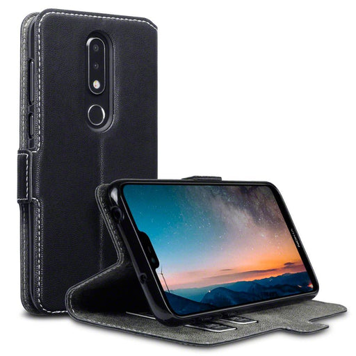 Terrapin Cases Terrapin Nokia 6.1 PLUS/X6 Low Profile Faux Leather Wallet Case - Black