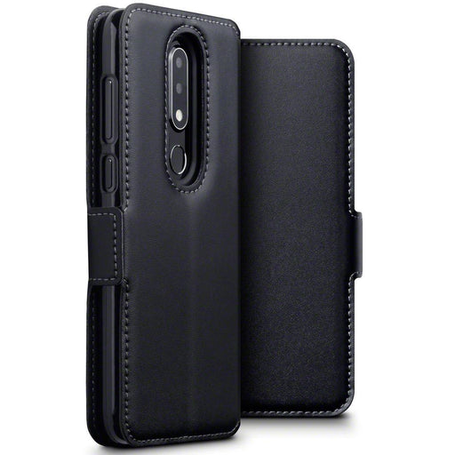 Terrapin Cases Terrapin Nokia 6.1 PLUS/X6 Low Profile Genuine Leather Wallet Case - Black