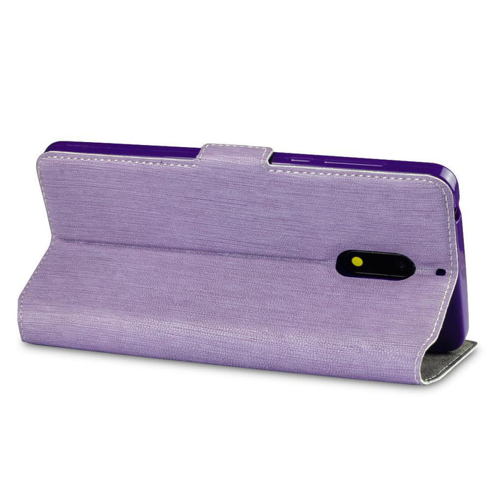 Terrapin Cases Terrapin Nokia 6 Low Profile Faux Leather Wallet Case - Purple