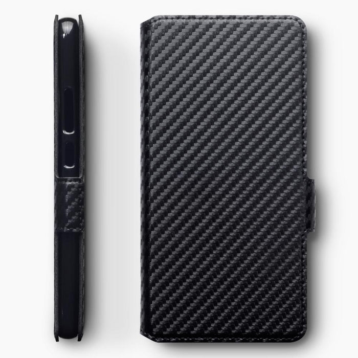 Terrapin Cases Terrapin Nokia 9 PureView Low Profile PU Leather Wallet Case - Black Carbon Fibre