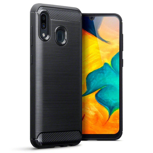 Terrapin Cases Terrapin Samsung Galaxy A30 Carbon Fibre Design TPU Gel Case - Black