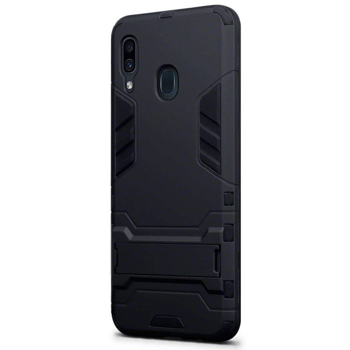 Terrapin Cases Terrapin Samsung Galaxy A30 Dual Layer Shock Resistant Armour Case with Stand - Black