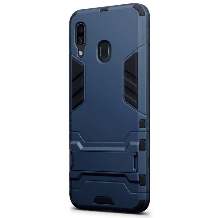 Terrapin Cases Terrapin Samsung Galaxy A30 Dual Layer Shock Resistant Armour Case with Stand - Blue
