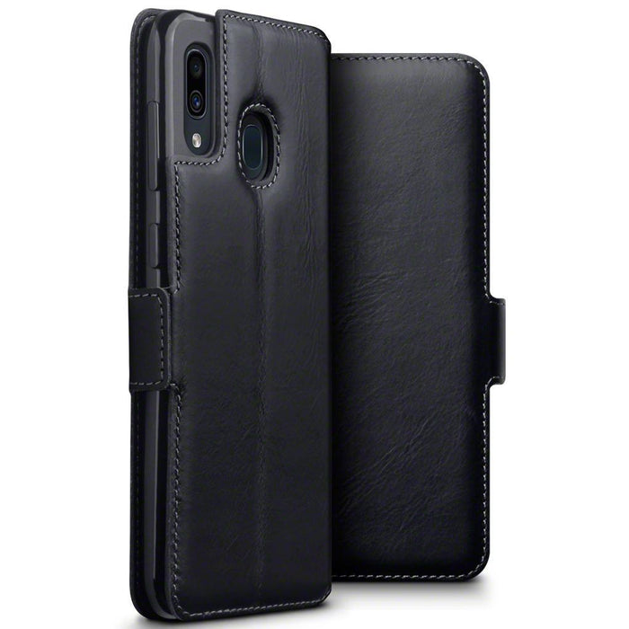 Terrapin Cases Terrapin Samsung Galaxy A30 Low Profile Genuine Leather Wallet Case - Black