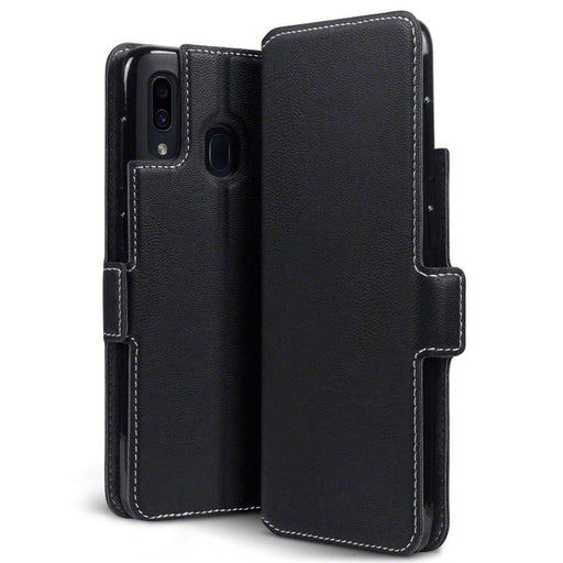 Terrapin Cases Terrapin Samsung Galaxy A30 Low Profile PU Leather Wallet Case - Black