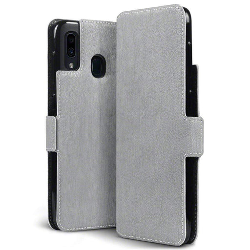 Terrapin Cases Terrapin Samsung Galaxy A30 Low Profile PU Leather Wallet Case - Grey