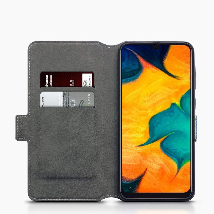 Terrapin Cases Terrapin Samsung Galaxy A30 Low Profile PU Leather Wallet Case - Light Blue