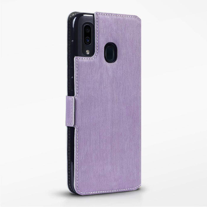 Terrapin Cases Terrapin Samsung Galaxy A30 Low Profile PU Leather Wallet Case - Purple