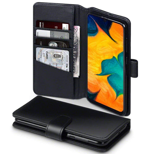 Terrapin Cases Terrapin Samsung Galaxy A30 Real Leather Wallet Case - Black