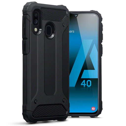 Terrapin Cases Terrapin Samsung Galaxy A40 Double Layer Impact Case - Black