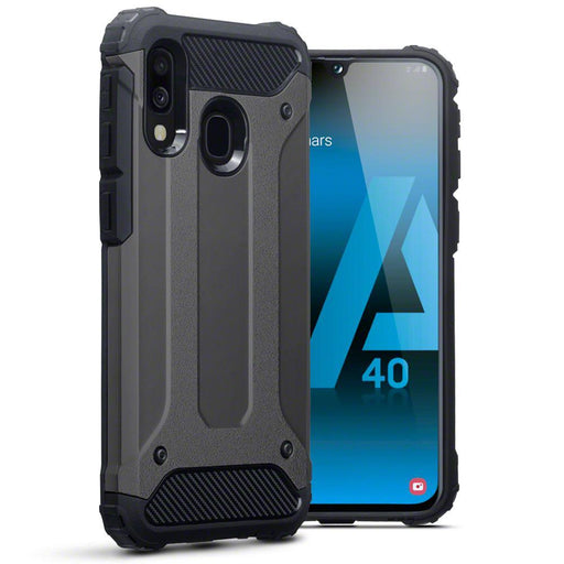 Terrapin Cases Terrapin Samsung Galaxy A40 Double Layer Impact Case - Gunmetal