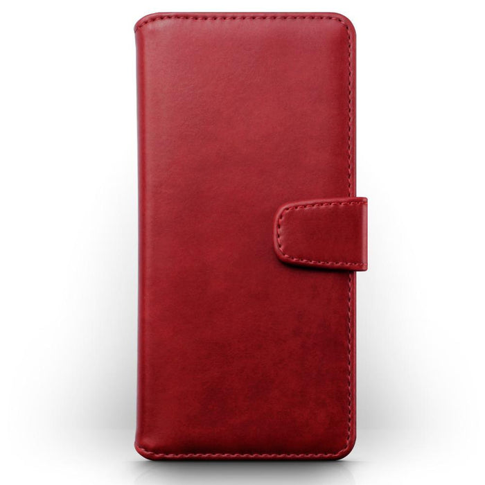 Terrapin Cases Terrapin Samsung Galaxy A50 Real Leather Wallet Case - Red