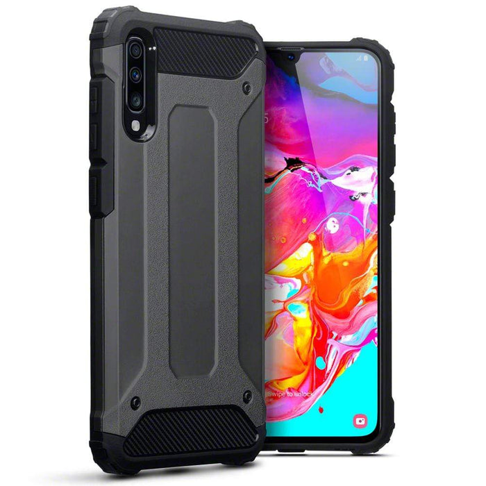 Terrapin Cases Terrapin Samsung Galaxy A70 Double Layer Impact Case - Gunmetal