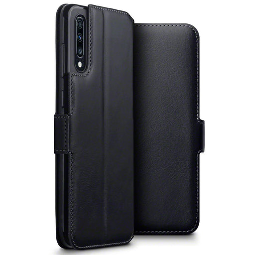 Terrapin Cases Terrapin Samsung Galaxy A70 Low Profile Genuine Leather Wallet Case - Black