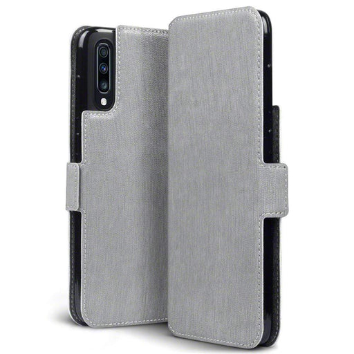 Terrapin Cases Terrapin Samsung Galaxy A70 Low Profile PU Leather Wallet Case - Grey