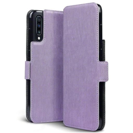 Terrapin Cases Terrapin Samsung Galaxy A70 Low Profile PU Leather Wallet Case - Purple