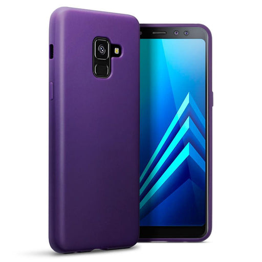 Terrapin Cases Terrapin Samsung Galaxy A8 2018 TPU Gel Skin Case - Solid Purple Matte