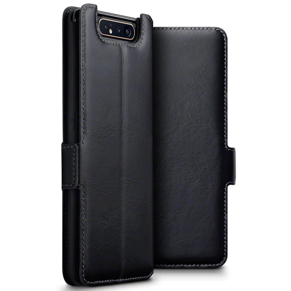 Terrapin Cases Terrapin Samsung Galaxy A80 Slim Fit Genuine Leather Wallet Case - Black
