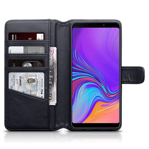 Terrapin Cases Terrapin Samsung Galaxy A9 2018 Real Leather Wallet Case - Black